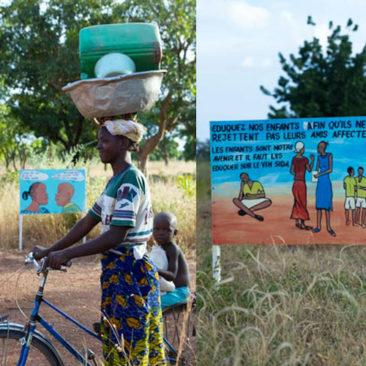 Sensibilisation en milieu rural au Burkina Faso